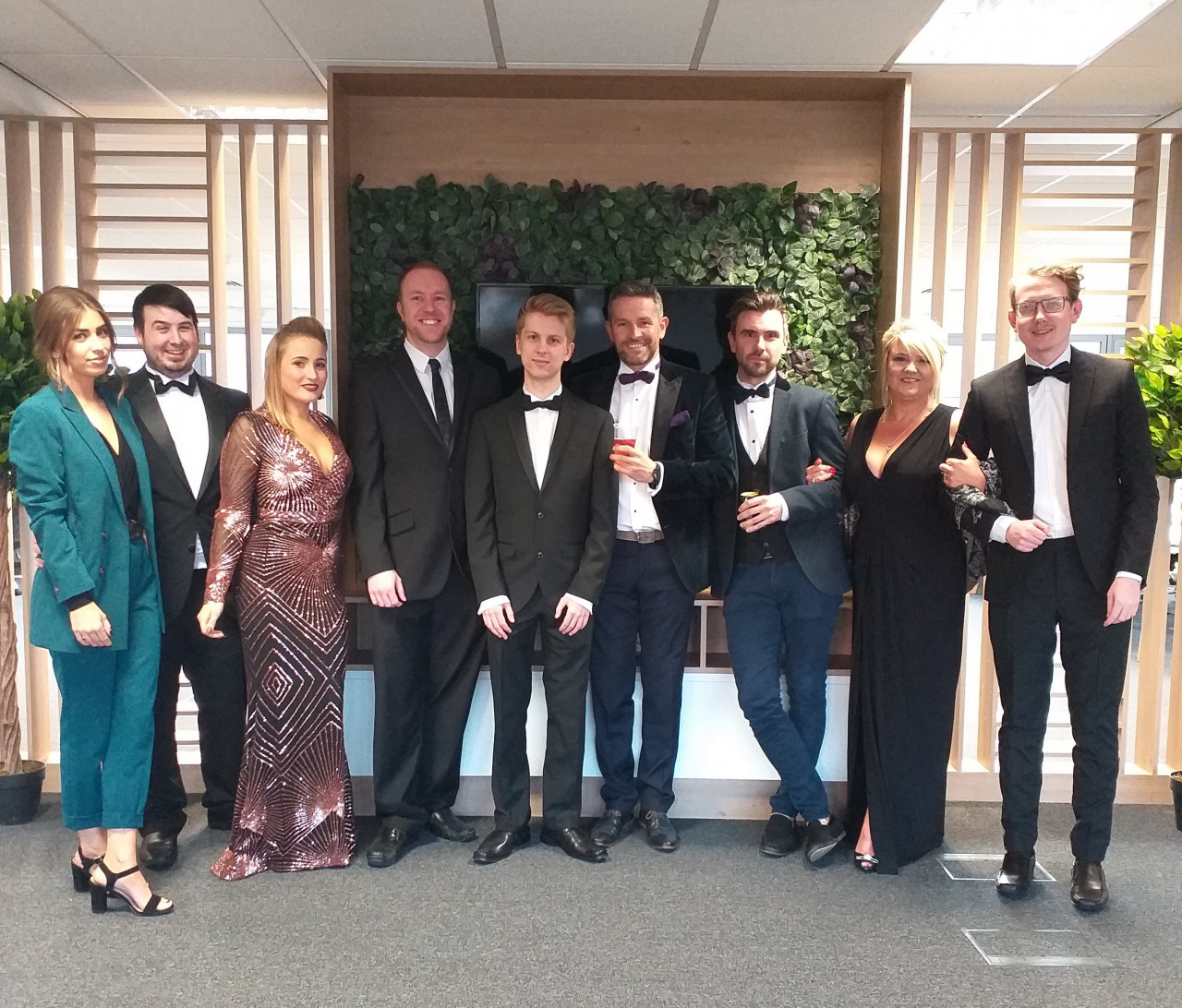 Salesfire staff suited and booted for the North East Business Awards