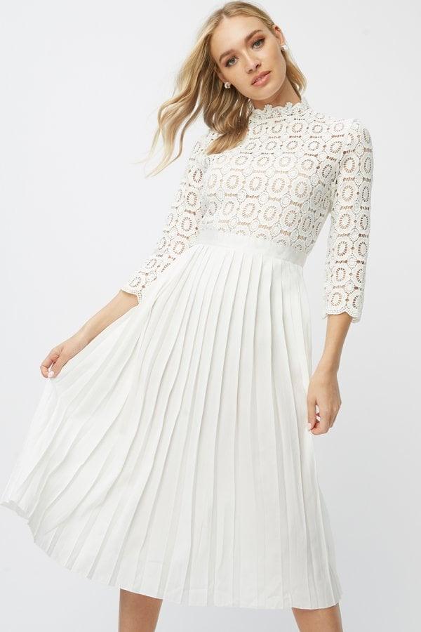 26b64db8ceb39 Little Mistress Grace Peach Embellished Neck Maxi Dress - Little ...