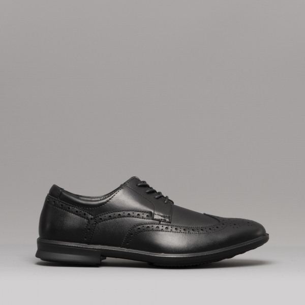 8c7357f986f288 TURIN Mens Leather Suede Brogue Shoes Black/Navy. £45.00 · Hush Puppies