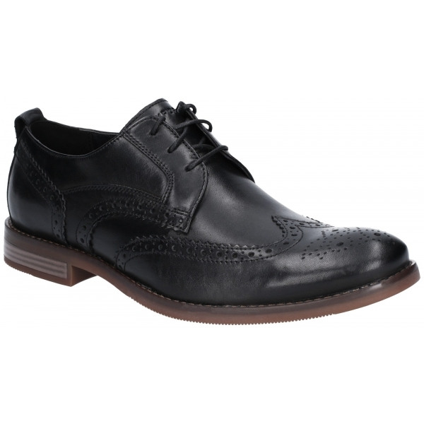 fe19e53c71baa7 Lambretta BRUCE Mens High Quality Leather Wingtip Shoes Black| Shuperb