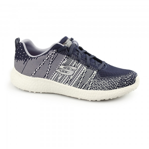 a28c017dba Skechers BURST Ladies Sports Lace Up Comfort Trainers Grey | Shuperb